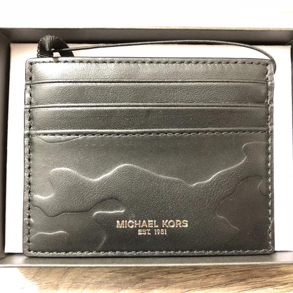 19c1b41d863 Michael Kors Men Wallet Tall Card Case Card Holder